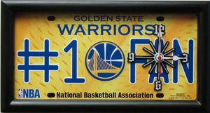 Golden State Warriors License Plate Clock