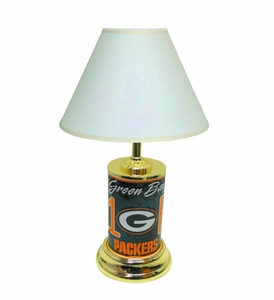 Green Bay Packers License Plate Lamp w/White Shade