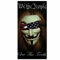 Guy Faux We The People See The Truth Beach Towel