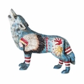 Hand Painted Chief Spirit Wolf Collectible Statue