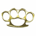 Heavy Duty Gold Knuckle Belt Buckle and Paperweight
