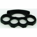 Heavy Weight Brass Knuckle Belt Buckle / Black
