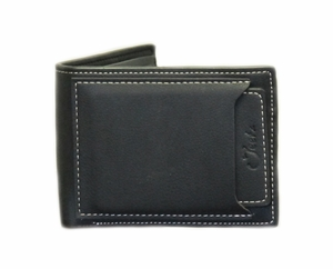 Jeetz Men's Handmade Black Bi-fold Wallet