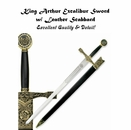 King Arthur Excalibur Sword w/ Leather Scabbard  [NFS]