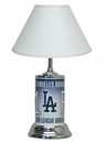 LA Dodgers License Plate Lamp with White Shade