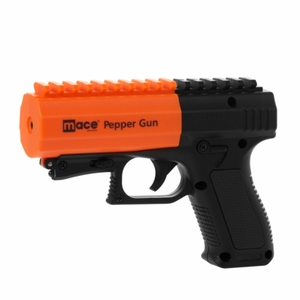 MACE PEPPER GUN 2.0 WITH STROBE LED, BLACK[NFS]