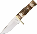 Marbles Small Hunter - Stag Handle Drop Point