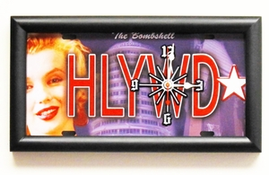 Marilyn Monroe Hollywood Bombshell License Plate Clock