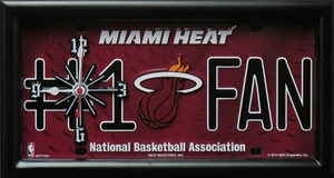 Miami Heat License Plate Clock
