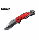 """MILSPEC """"Neutron"""" Assisted Opening Rescue Knife - Red"""