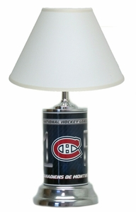 Montreal Canadiens License Plate Lamp with White Shade