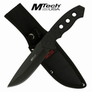 "Mtech USA ""Down Range"" Fixed Blade Tactical Knife- Black"