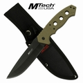 "Mtech USA ""Down Range"" Fixed Blade Tactical Knife- OD Green"