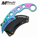 "Mtech USA Rainbow 7"" Karambit Neck Knife"