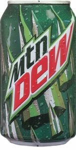 Mountain Dew Soda Can Embossed Metal Sign