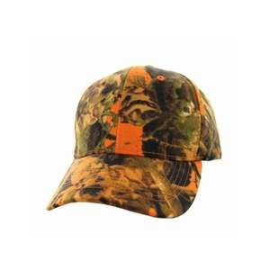 Orange Camo Hunting Cap