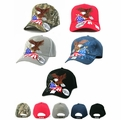 Patriotic Eagle & USA Flag Design Cap- Shadow Design Assorted