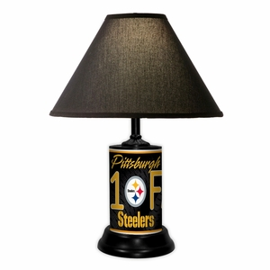 Pittsburgh Steelers License Plate Lamp w/White Shade