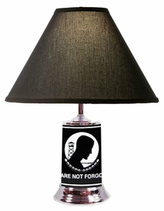 POW/MIA License Plate Table Lamp w/ Black Shade