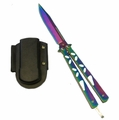 """Rainbow's Edge"" Butterfly Knife"
