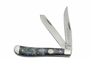 Rite Edge Trapper - Faux Abalone Handle