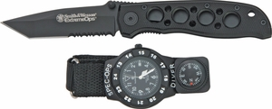 Smith & Wesson Special Ops Watch/Knife Combo