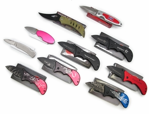 Set of 10 Different Tactical Folders-As Low as $1.69 ea. !