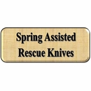 Spring Assisted Opening Rescue Knives
