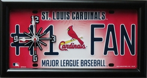 St. Louis Cardinals License Plate Clock