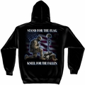 Stand For The Flag Kneel For The Fallen Hooded Sweatshirt