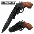 TAC-FORCE .38 Caliber Revolver Style Assisted Opening Sheriff Knife