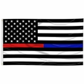 Thin Red/Blue Line U.S. Flag
