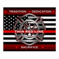 Thin Red Line Fleece Blanket