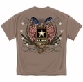 U.S. Army Logo with Double Flags and stars T-shirt