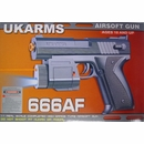 UK Arms 666AF Airsoft Pistol- Spring Powered