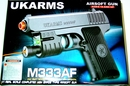 UK Arms M333AF Airsoft Pistol- Spring Powered