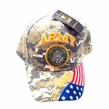 United States Air Force Digi Camo Cap with American Flag