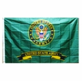 United States Army Emblem with Banner Flag- 3'x5'