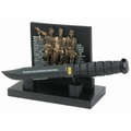 Vietnam War Veterans Memorial Commemorative Knife & Stand