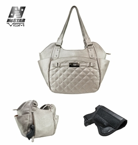 VISM Women's CCW Quilted Hobo Large- Gray