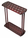 Dark Red Wood  Walking Cane Display Rack (Holds 23) [NFS]