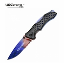 "Wartech ""Arcane Blade"" Tactical Assisted Opening Knife- Marble Fade"