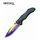 "Wartech ""Arcane Blade"" Tactical Assisted Opening Knife- Rainbow"