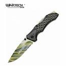 "Wartech ""Arcane Blade"" Tactical Assisted Opening Knife- Tiger Stripe"
