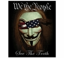 We the People See the Truth Fleece Blanket- 50x60