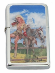 Wintage Style Cowgirl Pinup Lighter