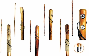 "Wood 55"" Walking Stick 6 Pc Set (Assorted)  [NFS]"