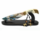 """World War II Fighter Jets 12"""" Fixed Blade Knife w/ Display Stand"""
