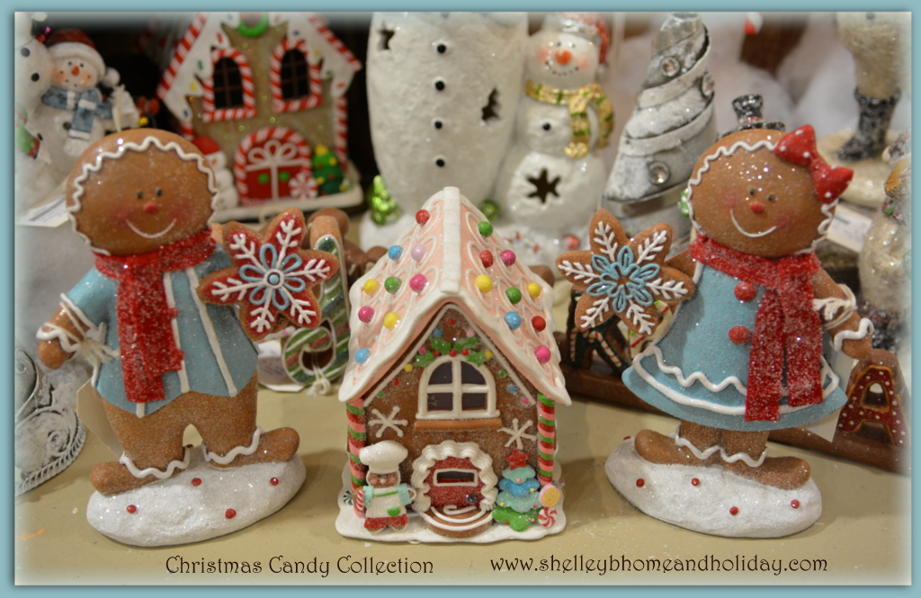 Christmas candy gingerbread bakery with light shelley b