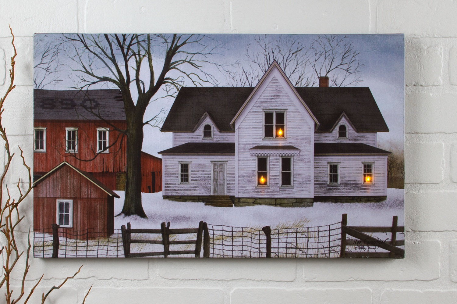 Radiance Lighted Canvas Billy Jacobs Farmstead - Shelley B ...